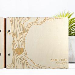 livro de honra de madeira a4 guest book livro de assinaturas